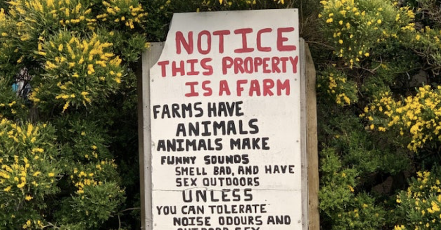 This farmer has had enough of neighbours moaning about petty much everything - the poke