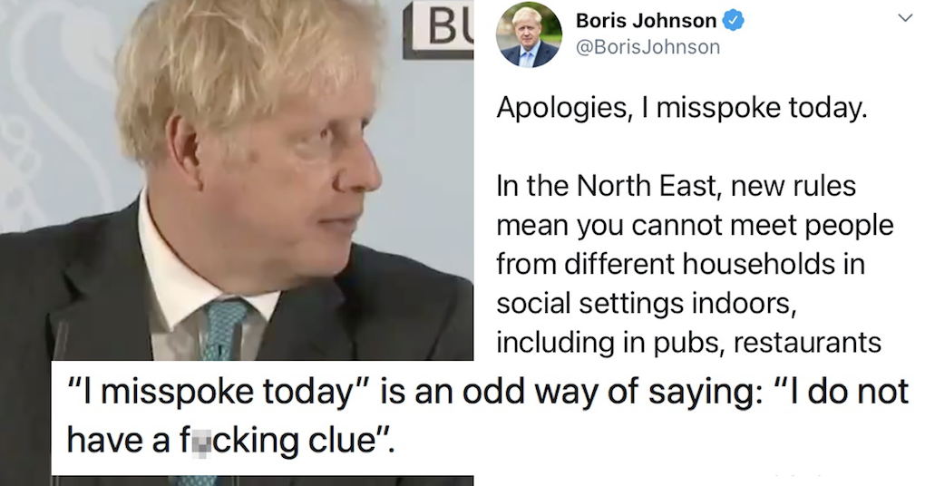 Boris Johnson just got his own Covid rules wrong (again) – only 6 responses you need