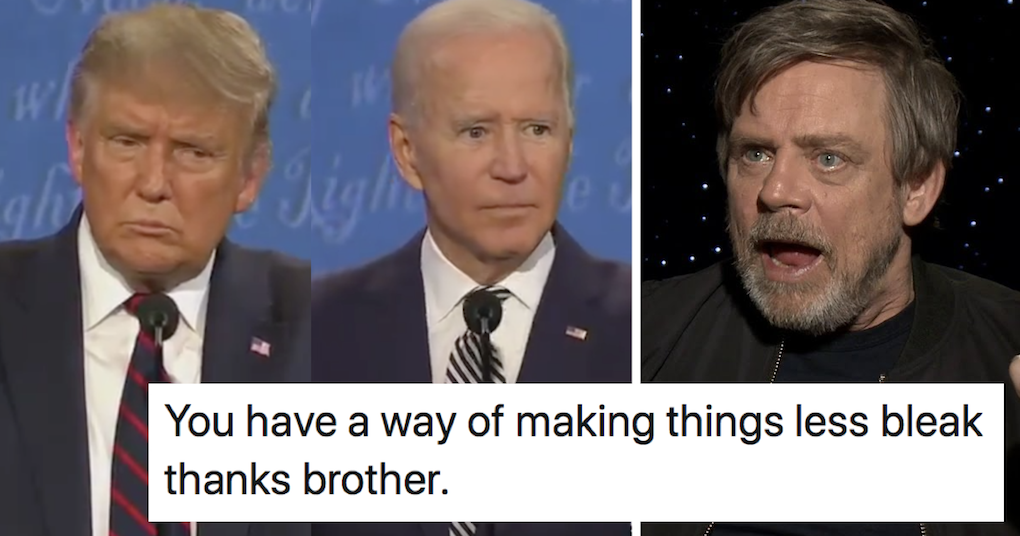 Mark Hamill had the last word on just how bad that first presidential debate was - the poke