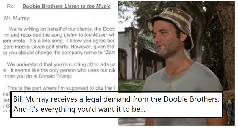 Bill Murray used a Doobie Brothers song without permission – and their lawyer's letter is a spectacular burn - the poke