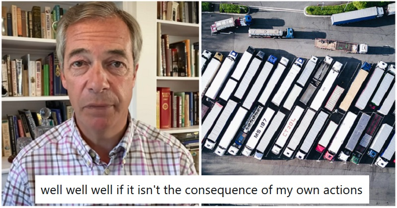 The only 5 reactions you need to Nigel Farage ranting about Kent's Brexit border - the poke