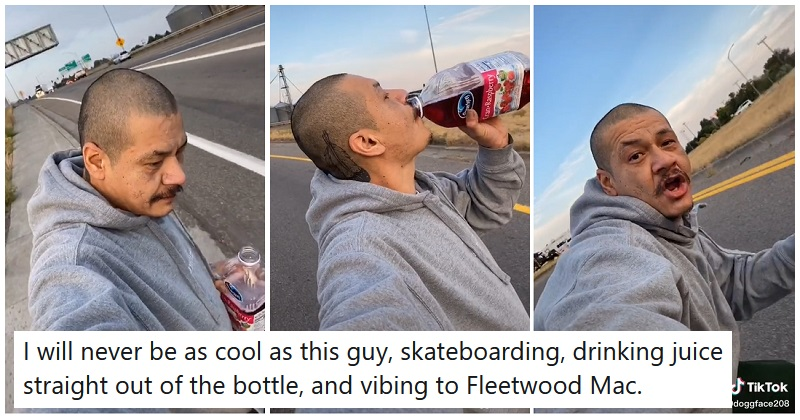 This guy chilling to Fleetwood Mac has gone viral because he's giving us life goals - the poke