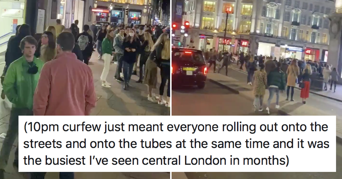 The 10pm curfew might not be working quite as the government intended – 7 favourite responses - the poke