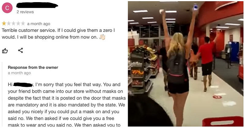 A shop owner had the perfect takedown of the anti-masker who left a terrible review - the poke