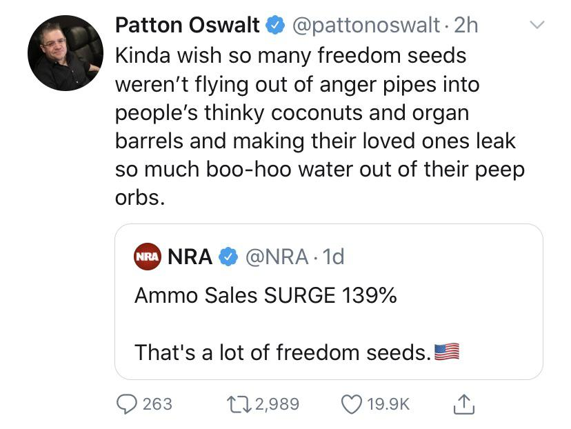 The NRA got all excited about 'freedom seeds' and this takedown hit the bullseye