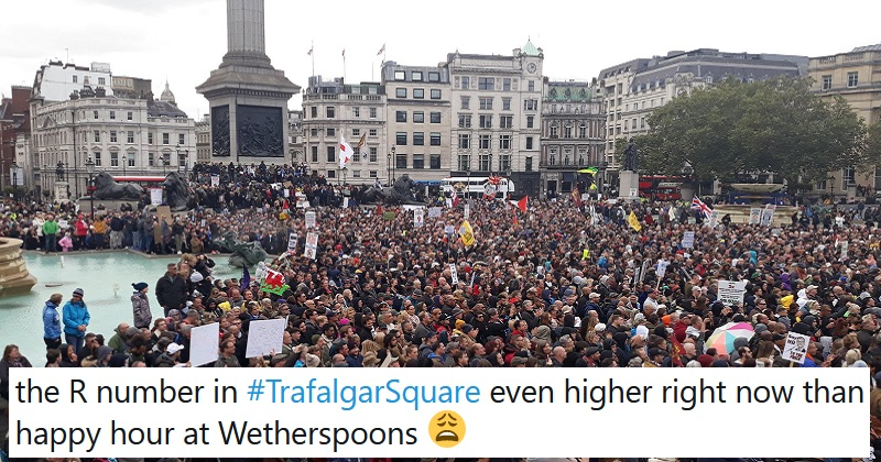 The anti-mask brigade packed into Trafalgar Square to listen to David Icke – the 9 best reactions - the poke