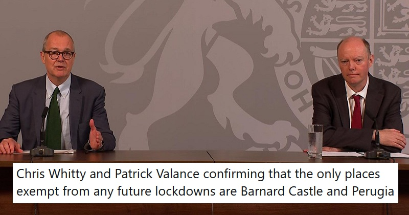 The 12 best reactions to the Chris Whitty and Sir Patrick Vallance coronavirus briefing - the poke