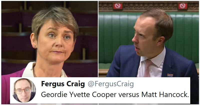 Geordie Yvette Cooper has had enough of Matt Hancock's nonsense (NSFW) - the poke