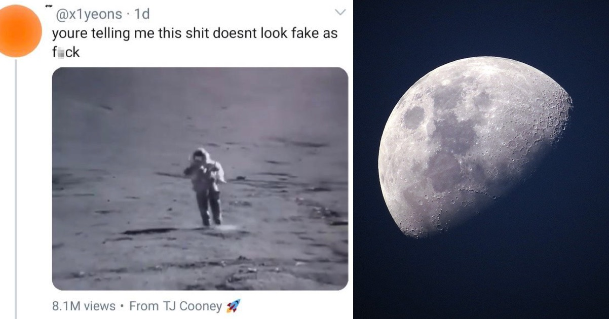 This takedown of a moon landing denier is simply fabulous