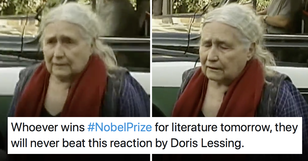 Doris Lessing surely had the best response to anyone winning … anything