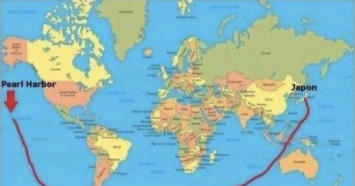 'This is how Japan attacked Pearl Harbour according to flat earthers'