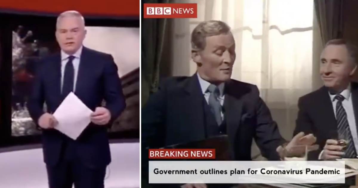 This mash-up of BBC News and Yes, Minister perfectly nails the state we're in