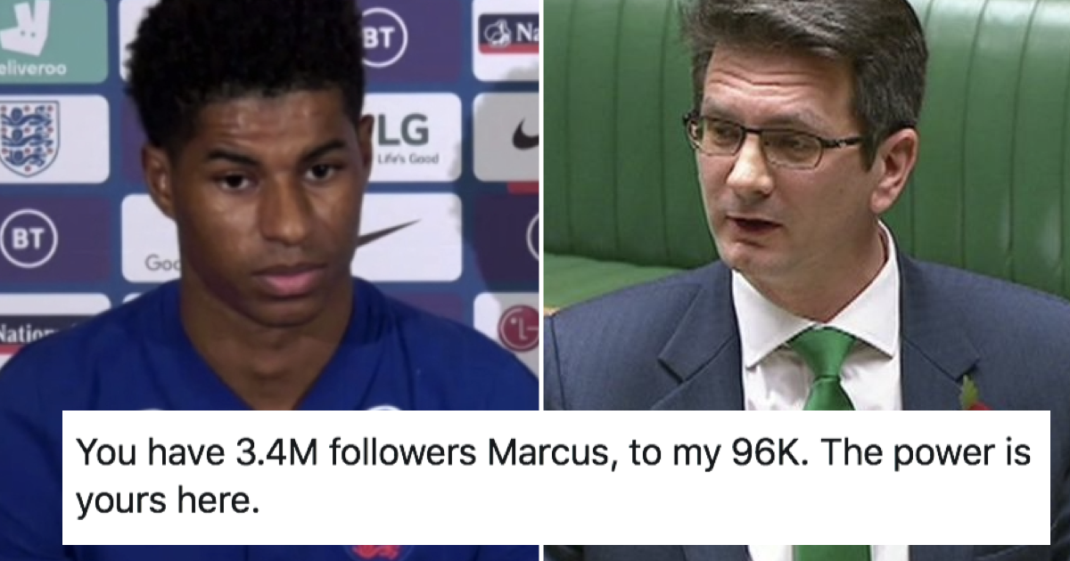 A Tory MP said Marcus Rashford has more power than he does - only 5 responses you need
