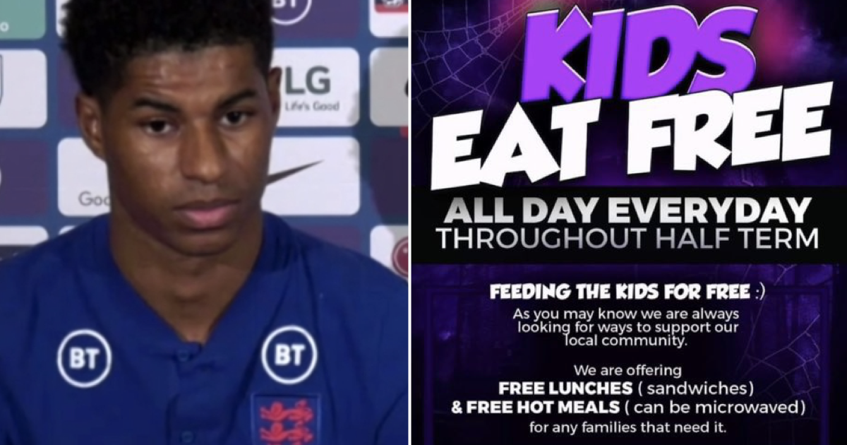 Marcus Rashford is sharing all the places doing free kids' meals because the government won't and it's the most amazing read - the poke