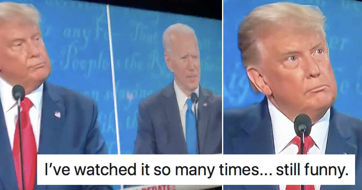 Donald Trump's eyes when Joe Biden said 'cocaine' has got people giggling
