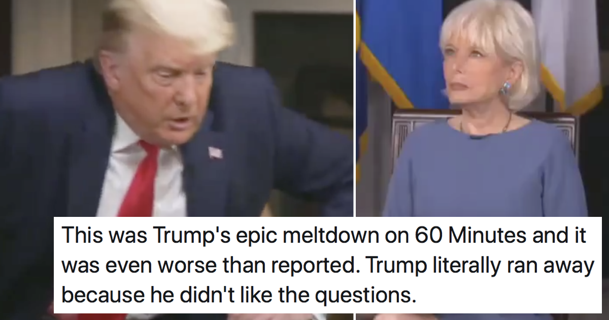 Donald Trump's epic 60 Minutes meltdown was a belter – 9 brutal takedowns - the poke