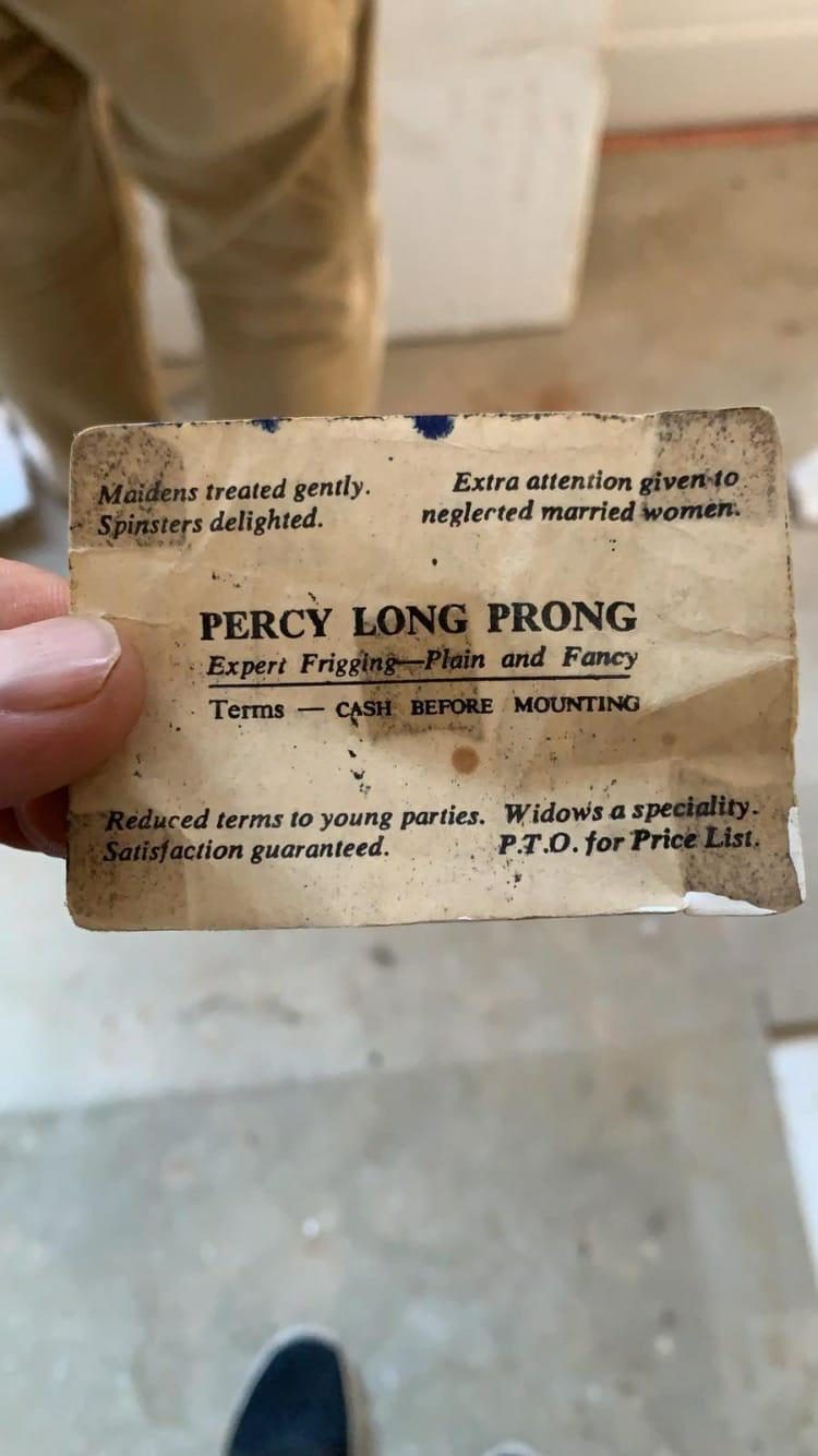 'Friend works as restorer. Just found this under floorboards of old property he's working on …'