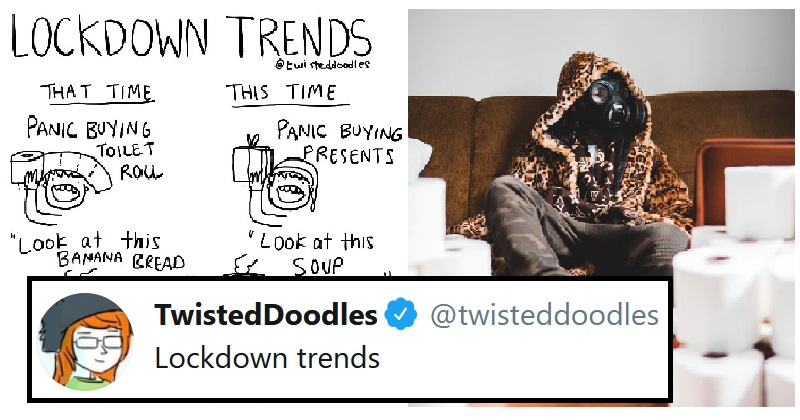 Twisted Doodles illustrates beautifully how lockdown trends have evolved - the poke