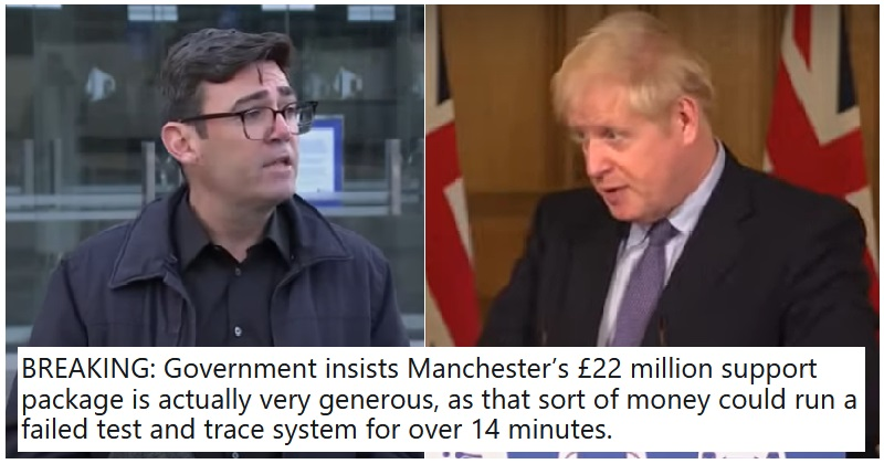 The government has forced Manchester into Tier 3 without adequate support – 14 scathing condemnations - the poke
