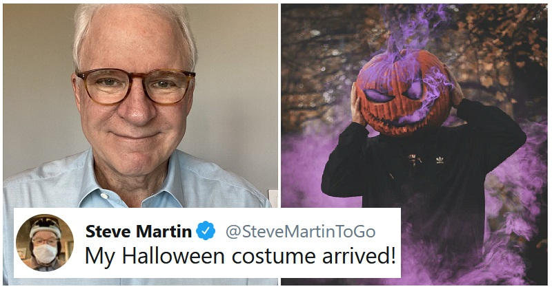 Steve Martin has got his Halloween costume ready – and we can't see anyone beating it