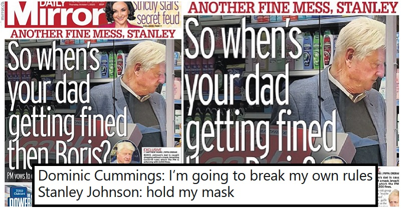 The only 5 funny reactions you need to Boris Johnson's dad breaking the coronavirus rules - again