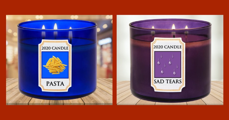 Scented Candles to sum up 2020