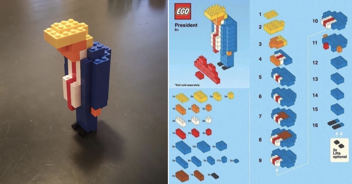 This 'Lego Donald Trump' went viral because it captures the outgoing president so perfectly