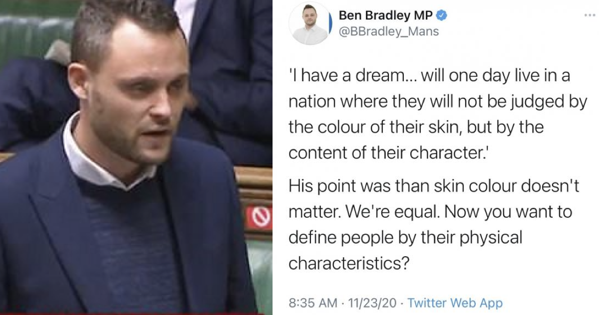 A Tory MP was just schooled by Martin Luther King's daughter on the meaning of her father's words - the poke