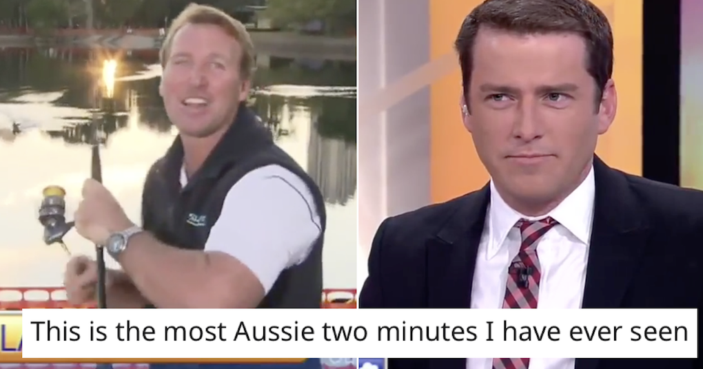 This live TV fishing segment went horribly wrong and you'll have to watch between your fingers