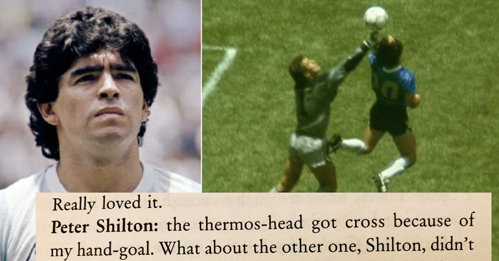 This Maradona takedown of Peter Shilton is also a little genius - the poke