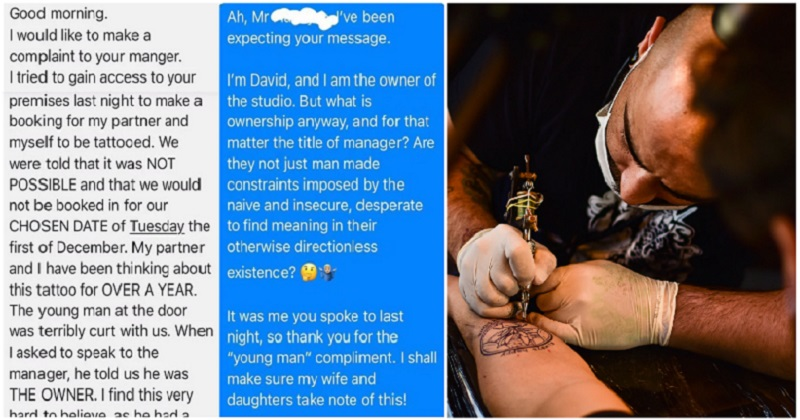 This Scottish tattooist's takedown of a 'male Karen' is a long but satisfying NSFW delight - the poke