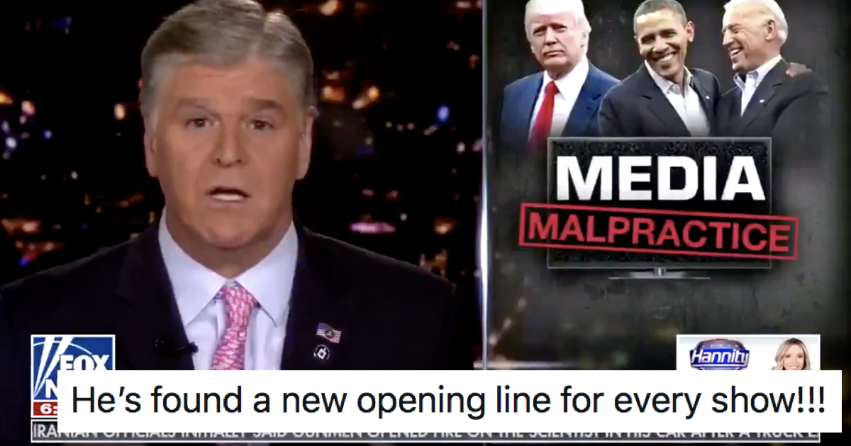Sean Hannity said he doesn't 'vet the information' he reads out and it's the ultimate Fox News self-own - the poke