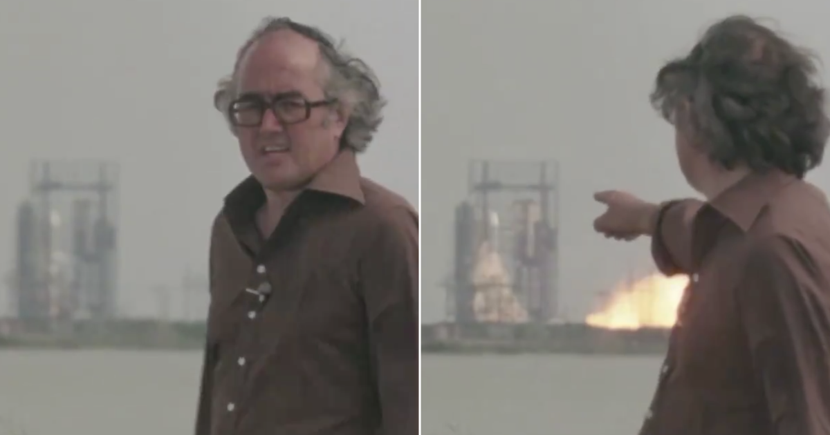 This James Burke clip has gone viral all over again because his timing is so perfect - the poke