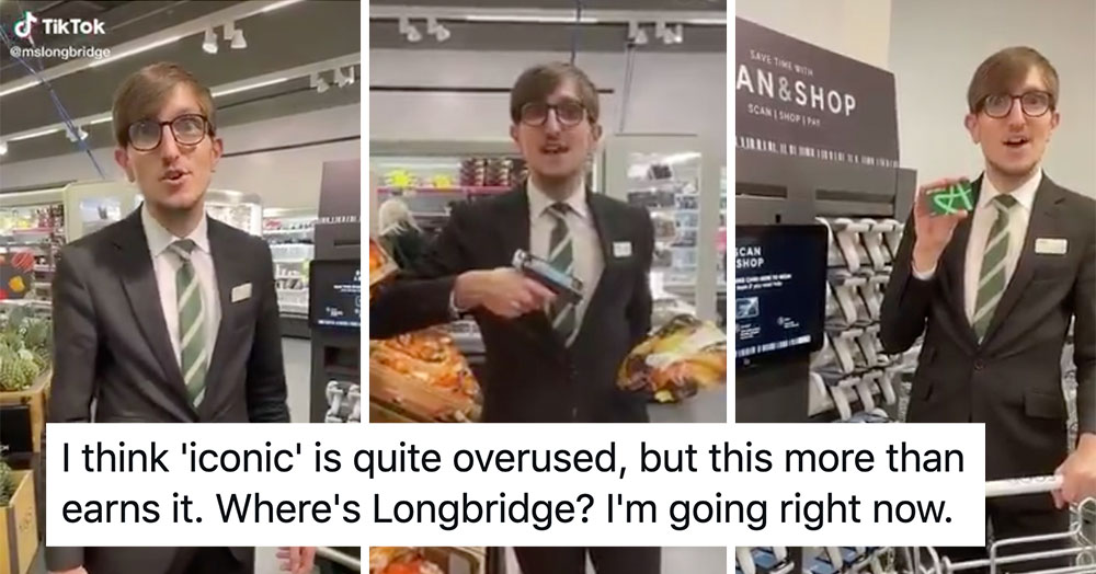 Everyone's loving this high energy M&S employee who's gone viral on TikTok - the poke