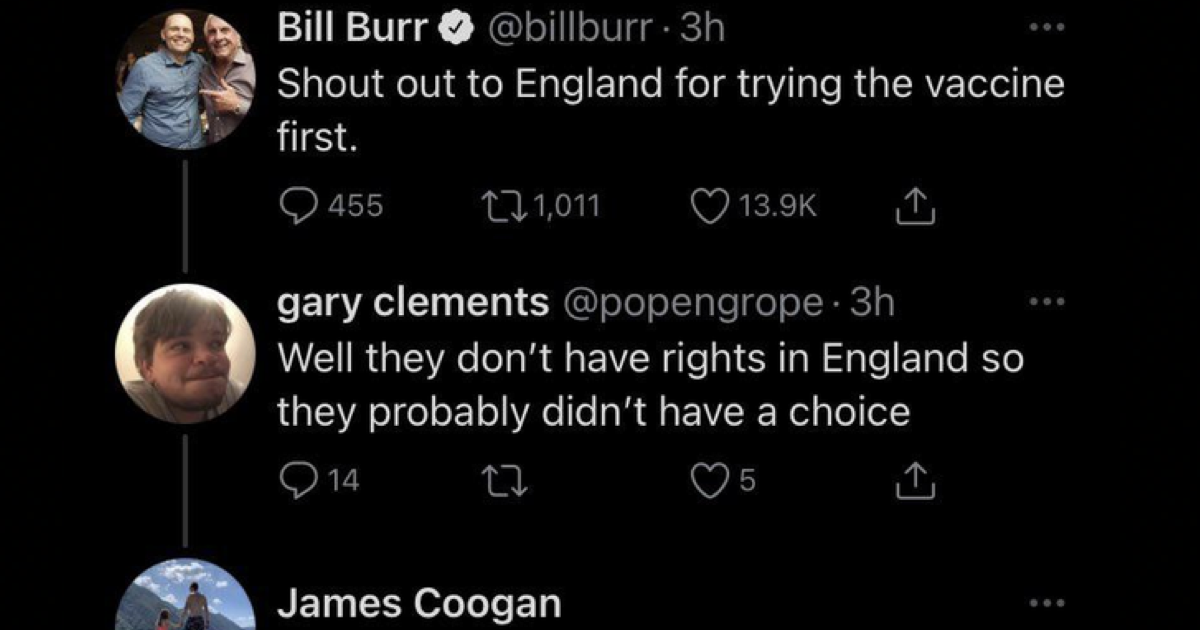 An American said Brits 'don't have rights' and this comeback is supremely satisfying