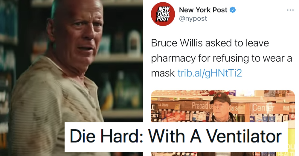 Bruce Willis went shopping without a mask – 7 favourite things people said about it