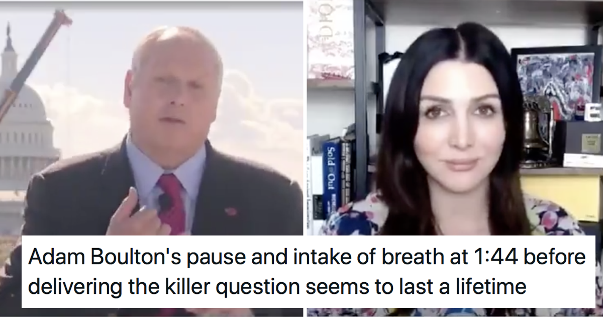 This fabulous Adam Boulton takedown of a former Trump campaign spokesperson is a brilliant watch