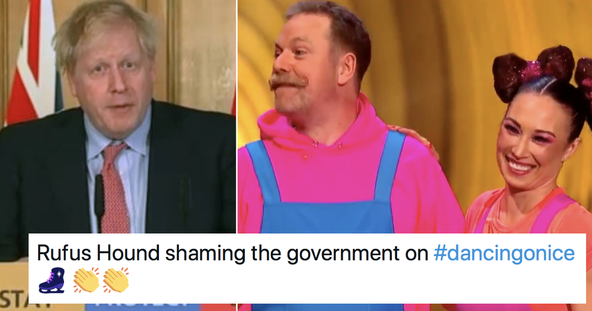 Rufus Hound's live TV takedown of the government over free school meals on Dancing on ice had everyone cheering - the poke