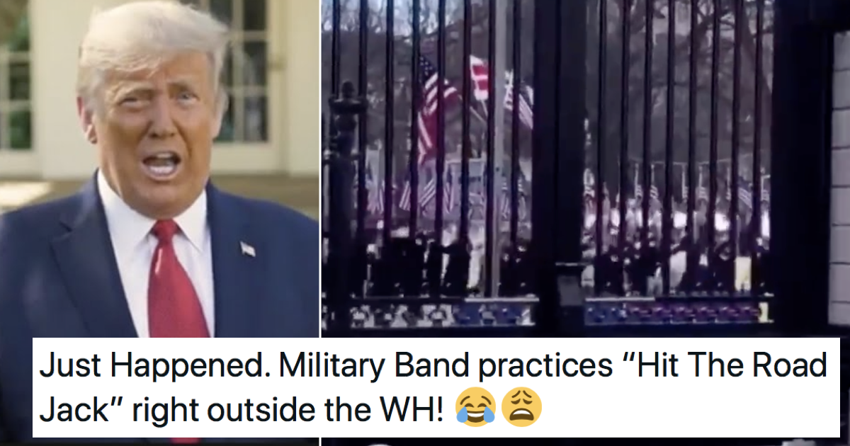 This military band playing 'Hit the Road Jack' was too good to be true (but still very funny)