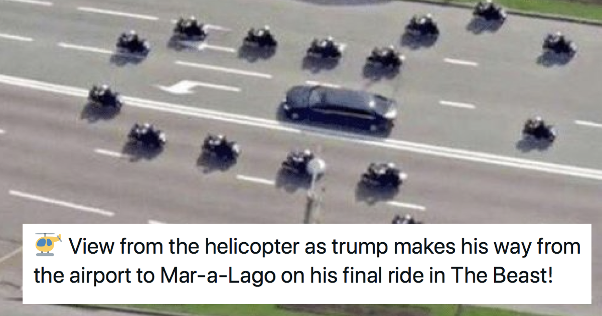 Unlike his presidency, this Donald Trump motorcade gag will run and run - the poke