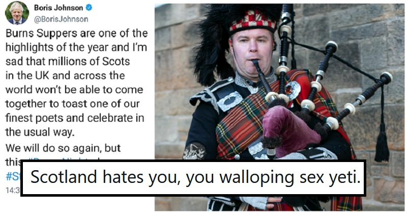 The only 5 clapbacks you need to the PM's Burns Night 'stay home' message - the poke