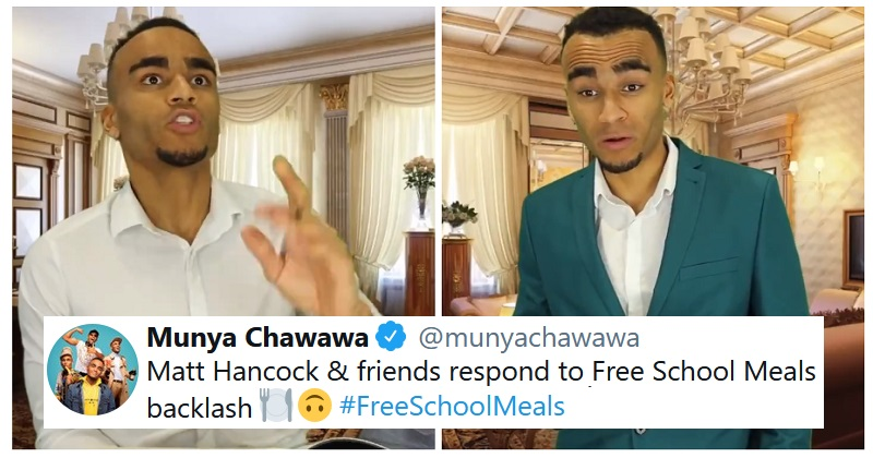 Munya Chawawa expertly parodies how Matt Hancock and friends reacted to the free school meals backlash - the poke