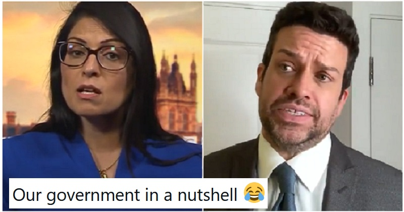 Michael Spicer's version of Priti Patel answering a question is brutally accurate - the poke