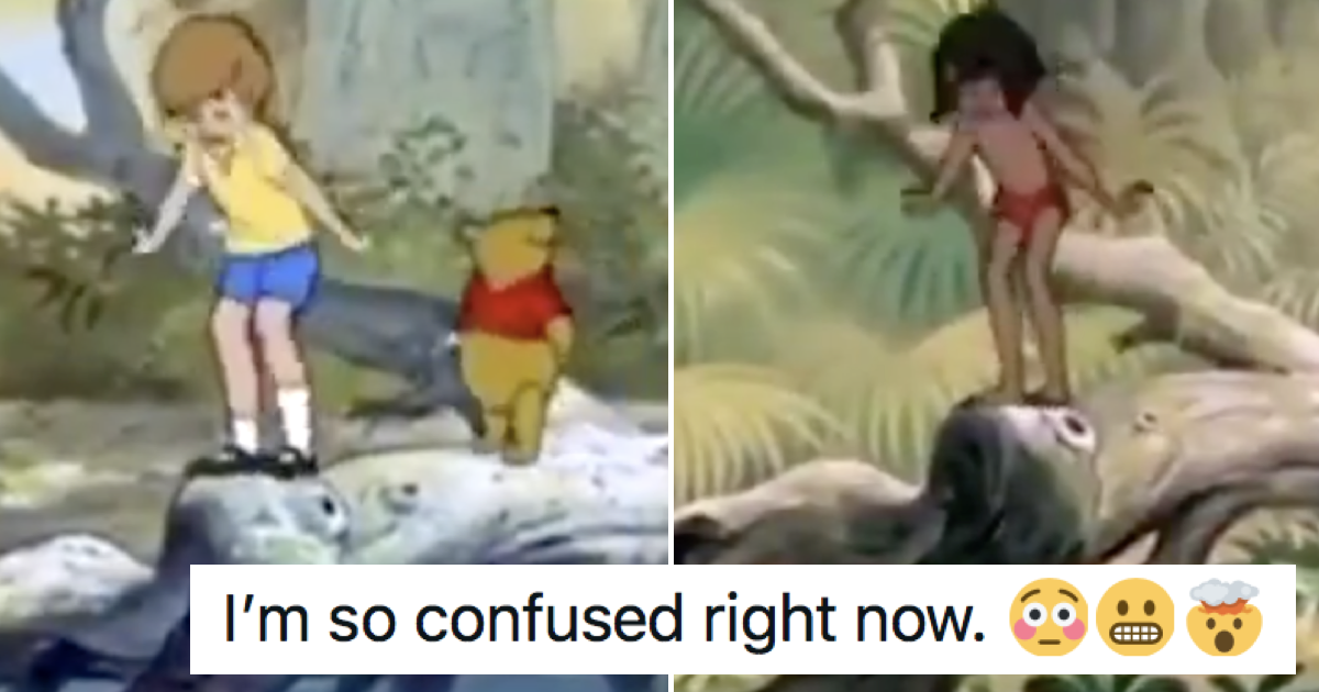 This side-by-side comparison of Jungle Book and Winnie the Pooh is blowing minds