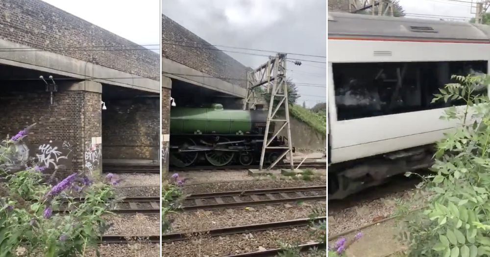 The impeccable comic timing of these trains is one for the ages - the poke