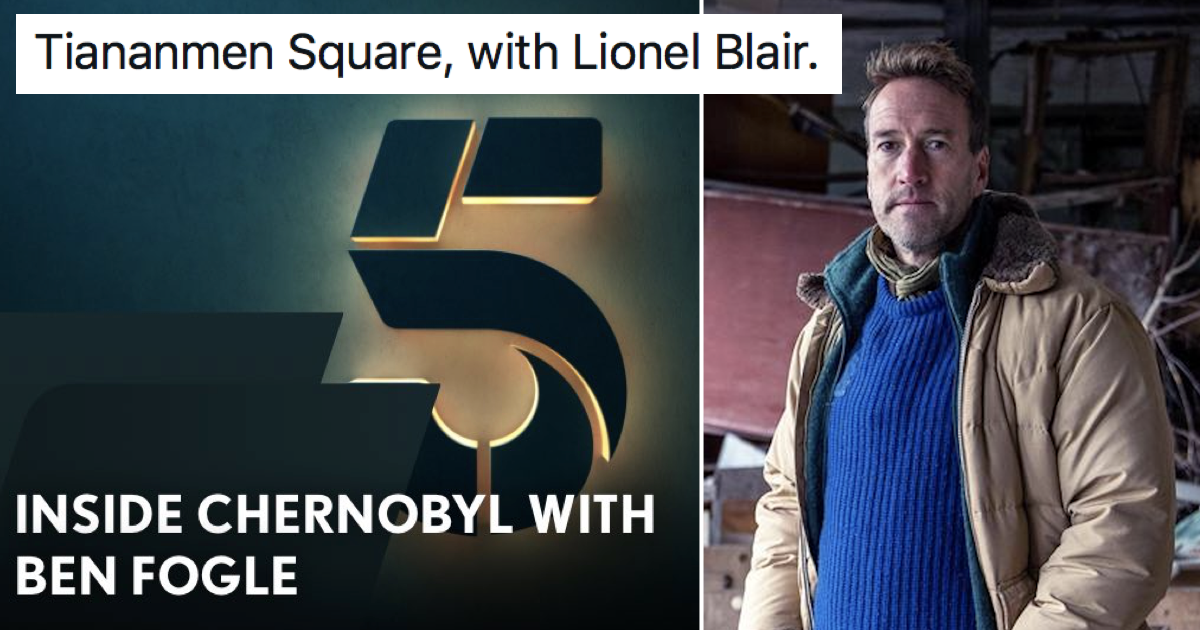 People are making up celebrity documentaries that rhyme after Ben Fogle went to Chernobyl – 23 classics