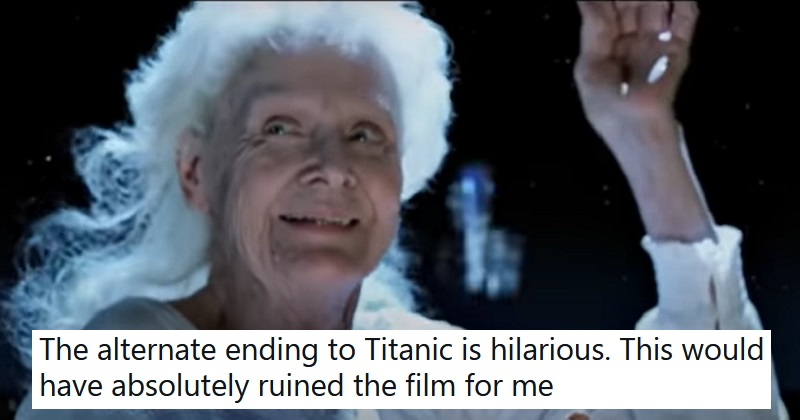 People can't quite get on board with this alternative ending to Titanic - the poke