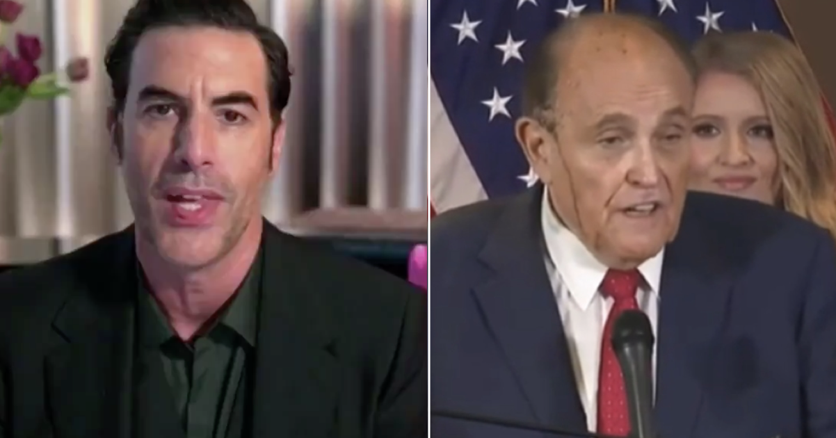 Sacha Baron Cohen thanked Rudy Giuliani at the Golden Globes and it just gets better and better - the poke