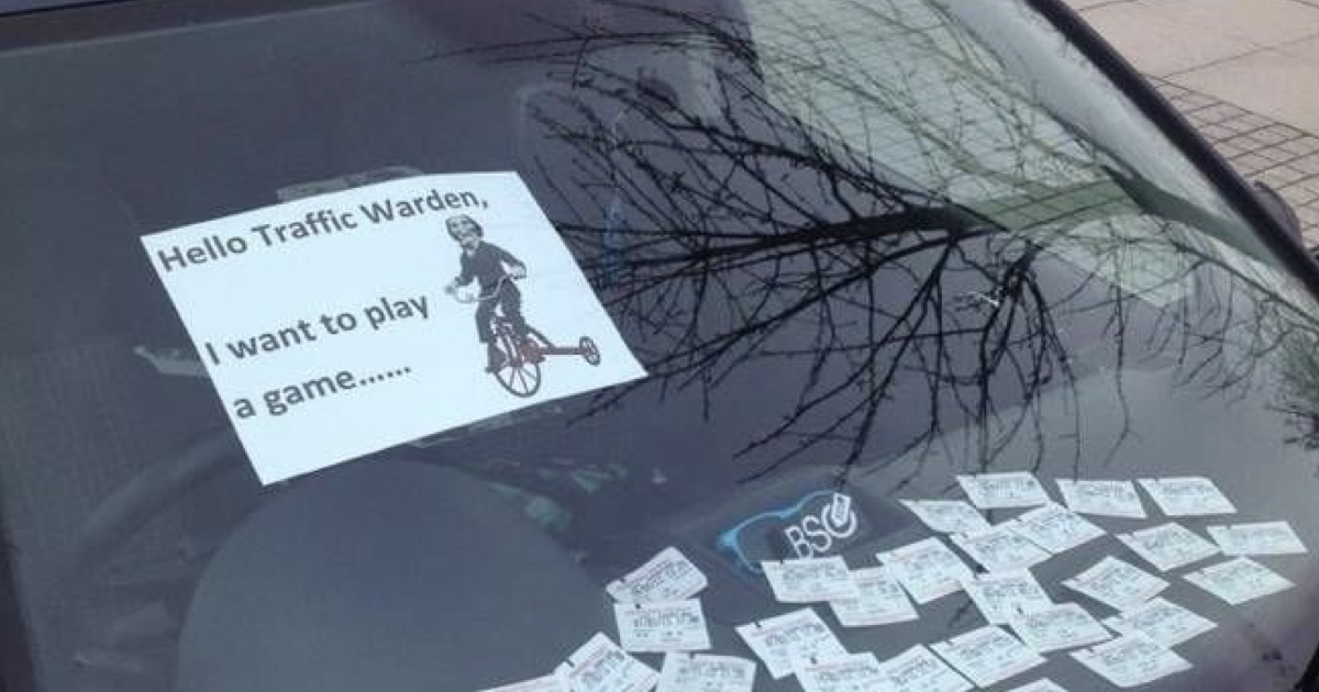 'Hello Traffic Warden, I want to play a game …' - the poke