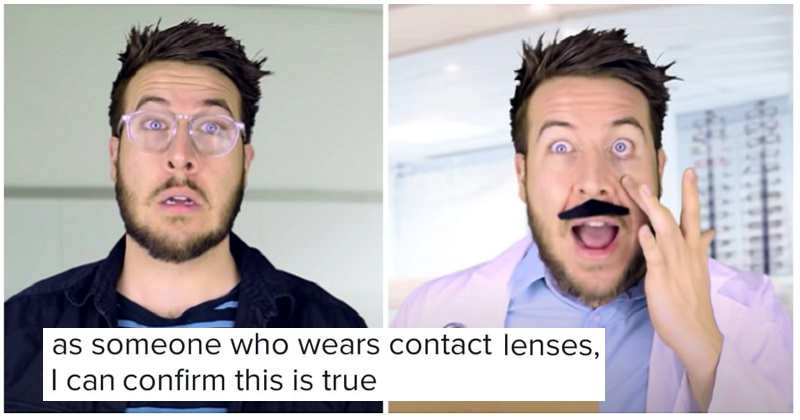 'The First Guy To Ever Wear Contact Lenses' - the poke